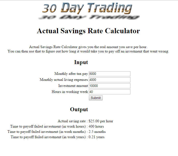 Retirement - Actual Savings Rate Calculator - 20160213